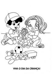 desenho para colorir dia das criancas