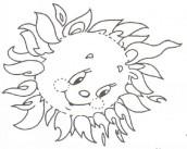 imagem de sol para colorir