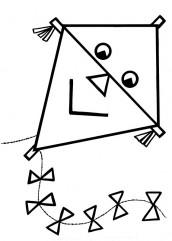 desenho de pipa para pintar