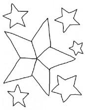 estrelas para colorir e imprimir