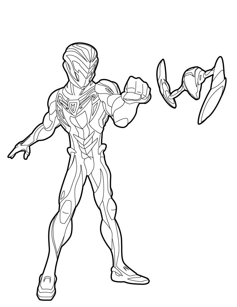 desenhos max steel para colorir