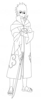desenhos de sasuke para pintar