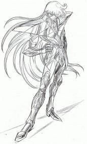 desenhos para colorir cavaleiros do zodiaco virgem