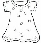 desenhos de roupas de bebe para colorir