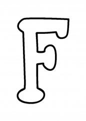 letra f maiuscula para colorir
