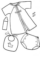 roupas de bebe para pintar e imprimir