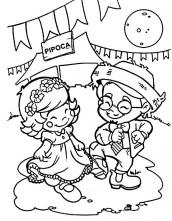 desenhos para colorir e imprimir de quadrilha