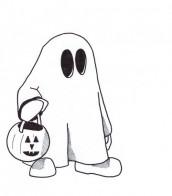 desenho de fantasma para colorir