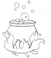 desenhos de caldeirao da bruxa halloween para colorir