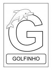 alfabeto de animais G para colorir