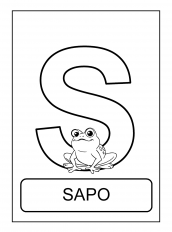 alfabeto de animais S para colorir