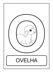 alfabeto de animais o para colorir