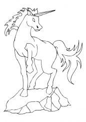 unicornio para pintar e imprimir